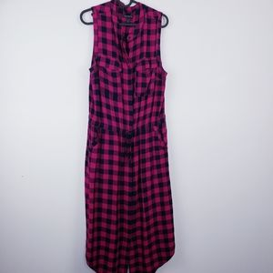 BANANA REPUBLIC   Maxi Plaid Sleeveless Dress